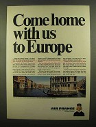 1965 Air France Ad - Come Home With Us to Europe