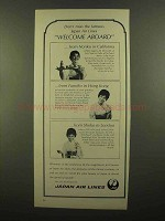 1965 Japan Air Lines Ad - Don't Miss Welcome Aboard