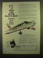 1965 Piper Aircraft Ad - Puts You in the Pilot's Seat