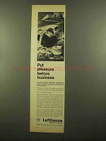 1965 Lufthansa Airlines Ad - Pleasure Before Business