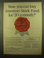 1965 Investors Diversified Services Ad - Stock Fund