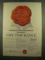 1965 Investors Syndicate Life Ad - Life Insurance