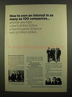 1965 Investment Company Institute Ad - Own an Interest