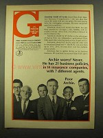 1965 Glens Falls Group Ad - Archie Worry? Never
