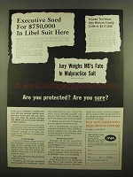 1965 INA Insurance Ad - Are You Protected?