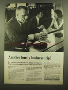 1965 American Express Ad - Lonely Business Trip?