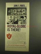 1965 Royal-Globe Insurance Ad - Singer Sewing