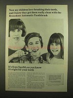 1965 Squibb Broxodent Automatic Toothbrush Ad - Love