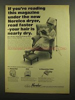 1965 Norelco Professional Home Hair Dryer Ad - Faster