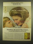 1965 Miss Clairol Hair Color Bath Ad - Had to be Born