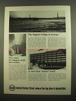 1965 United States Steel Ad - Biggest Bridge in Europe