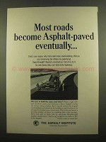 1965 The Asphalt Institute Ad - Most Roads