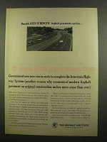 1965 The Asphalt Institute Ad - Durable Deep-Strength