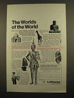 1965 Lufthansa Airlines Ad - The Worlds of the World