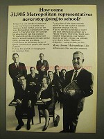 1965 Metropolitan Life Insurance Ad - Never Stop School