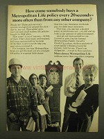 1965 Metropolitan Life Insurance Ad - Buys More Often