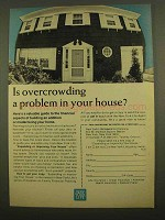 1965 New York Life Insurance Ad - Overcrowding Problem