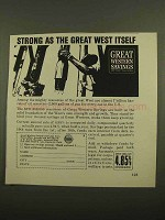 1965 Great Western Savings Ad - Strong as West