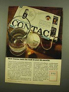 1965 Readers Digest Advertising Ad - Contac Cold Tablet