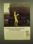 1965 AC Oil Filter Ad - Cleans a Tank-Car of Oil
