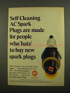 1965 AC Spark Plugs Ad - Hate to Buy New Plugs