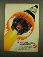 1965 AC Spark Plugs Ad - Help Boost Power