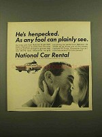 1965 National Car Rental Ad - He's Henpecked
