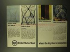 1965 United States Steel Ad - Report From Mt. Storm