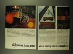 1965 United States Steel Ad - Unit Train New Steels