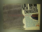 1965 United Delco Energizer Battery Ad