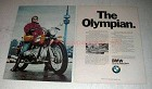 1972 BMW R75/5 Motorcycle Ad - The Olympian