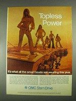 1970 OMC Stern Drive Ad - Topless Power