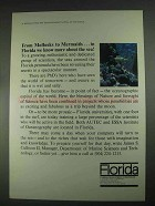 1967 Florida Development Commission Ad - Mollusks