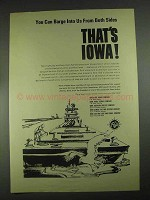 1967 Iowa Development Commission Ad - Barge Into