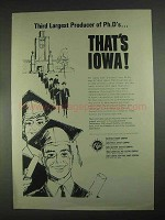 1967 Iowa Development Commission Ad - Ph.D's