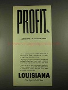 1967 Louisiana Department of Commerce and Industry Ad - Climate