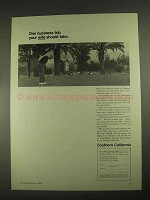 1967 Southern California Development Ad - Business Trip