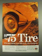 1967 Uniroyal Master Tire Ad - The $75 Tire