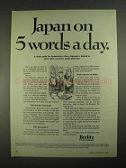 1967 Berlitz School of Languages Ad - Japan