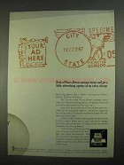 1967 Pitney-Bowes DM 3 Postage Meter Ad - Advertising