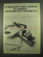 1967 Pitney-Bowes 701 Addresser-Printer Ad - A Month