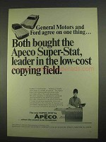 1967 Apeco Super-Stat Copier Ad - General Motors Ford
