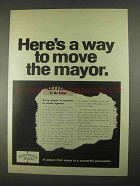 1967 Hammermill Bond Paper Ad - Move The Mayor