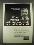 1967 Hammermill Bond Paper Ad - Wrote Public Official