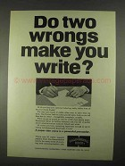 1967 Hammermill Bond Paper Ad - Two Wrongs