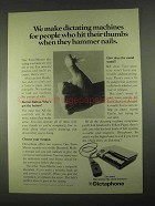 1967 Dictaphone Time-Master Dictation Machine Ad
