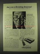 1967 Dictaphone Time-Master Dictation Machine Ad - Dropout