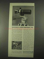 1967 Questar Field Model Telescope Ad - Laser Component