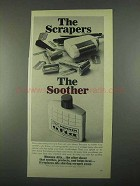 1967 Mennen Afta After Shave Ad - Scrapers Soother