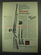 1967 Ruger 10/22 Carbine Ad - A Unique Pleasure